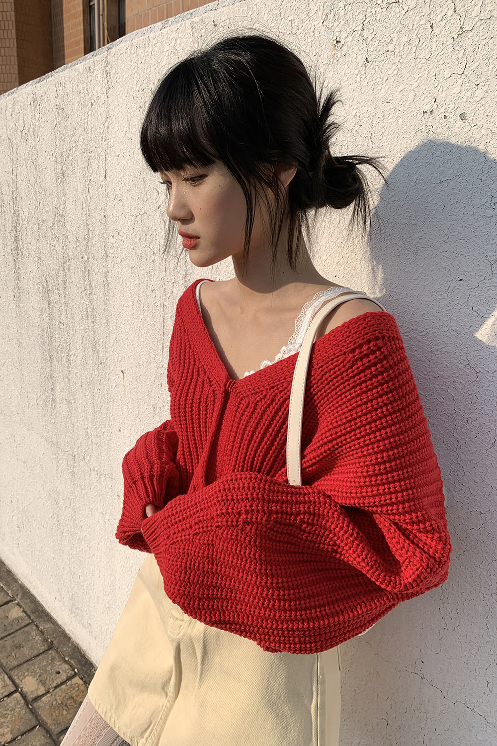 waffle loose cardigan (3colors)