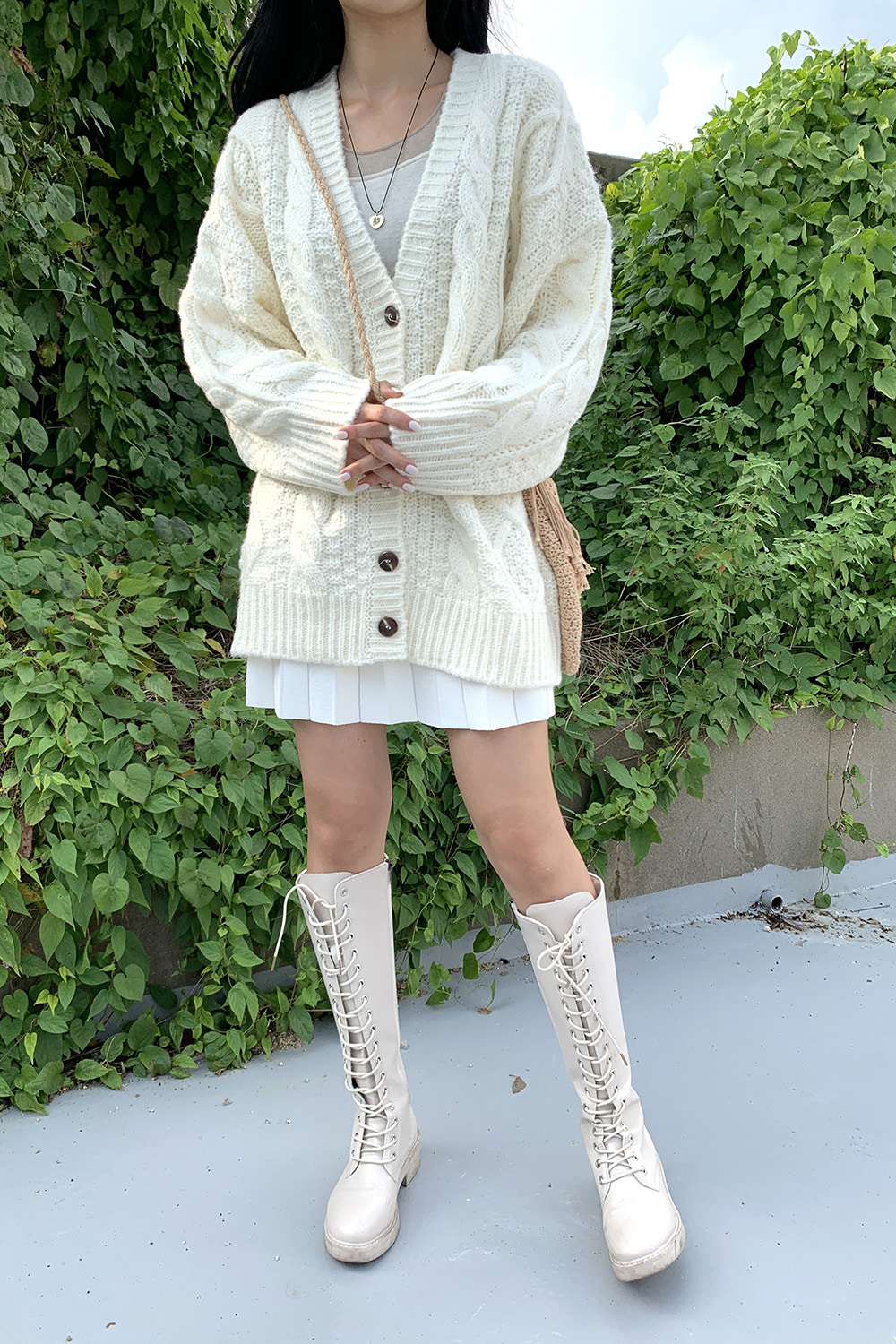 butter wool cardigan (ivory)