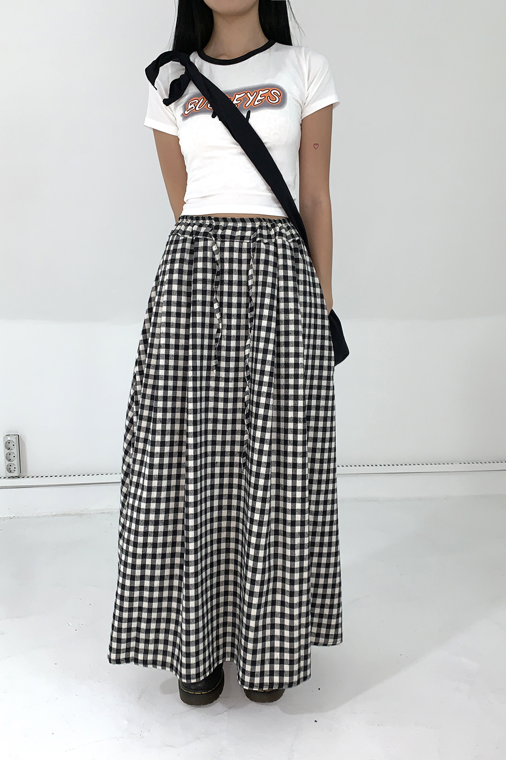 gingham hul skirts (2colors)