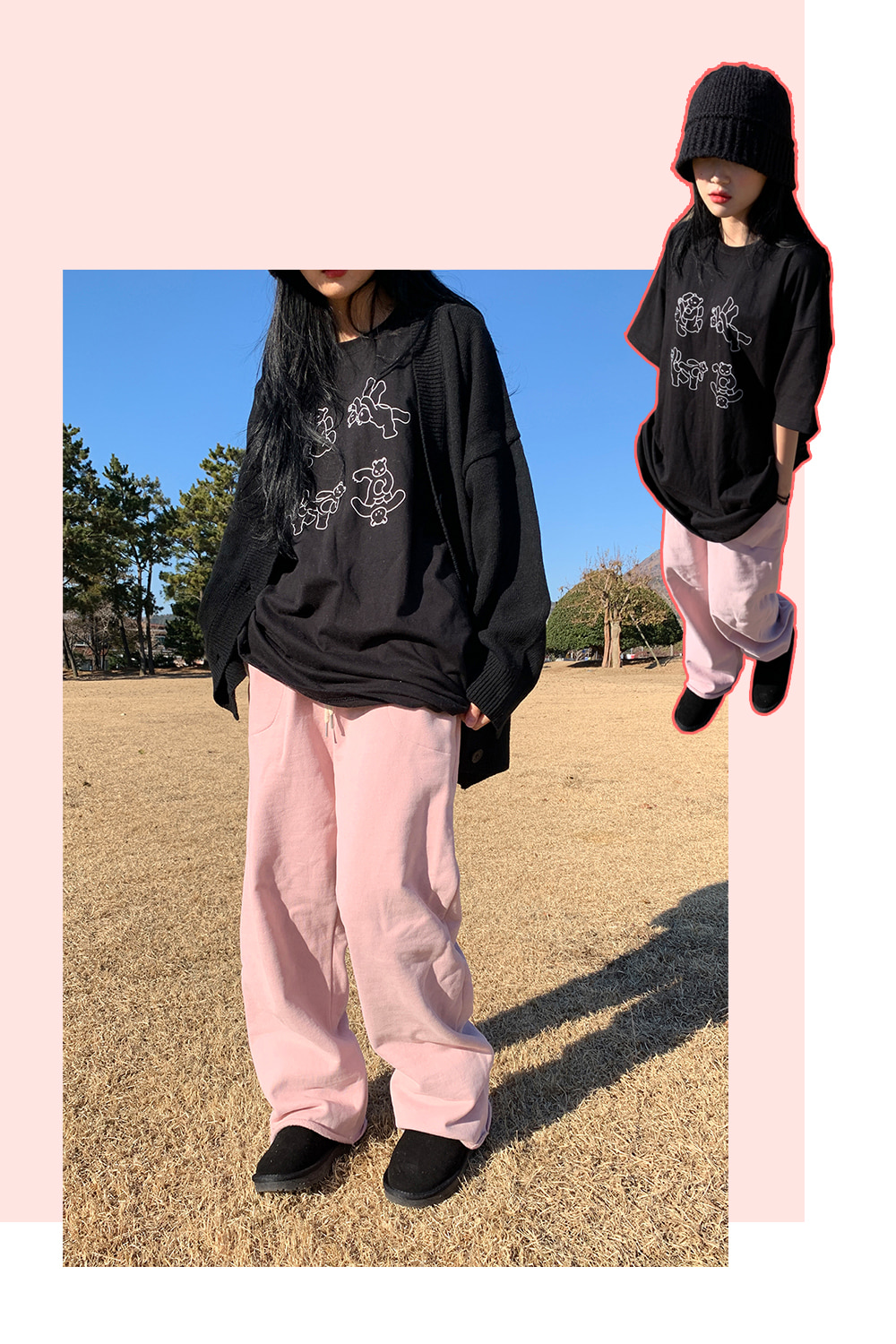 easy warm pants (pink)