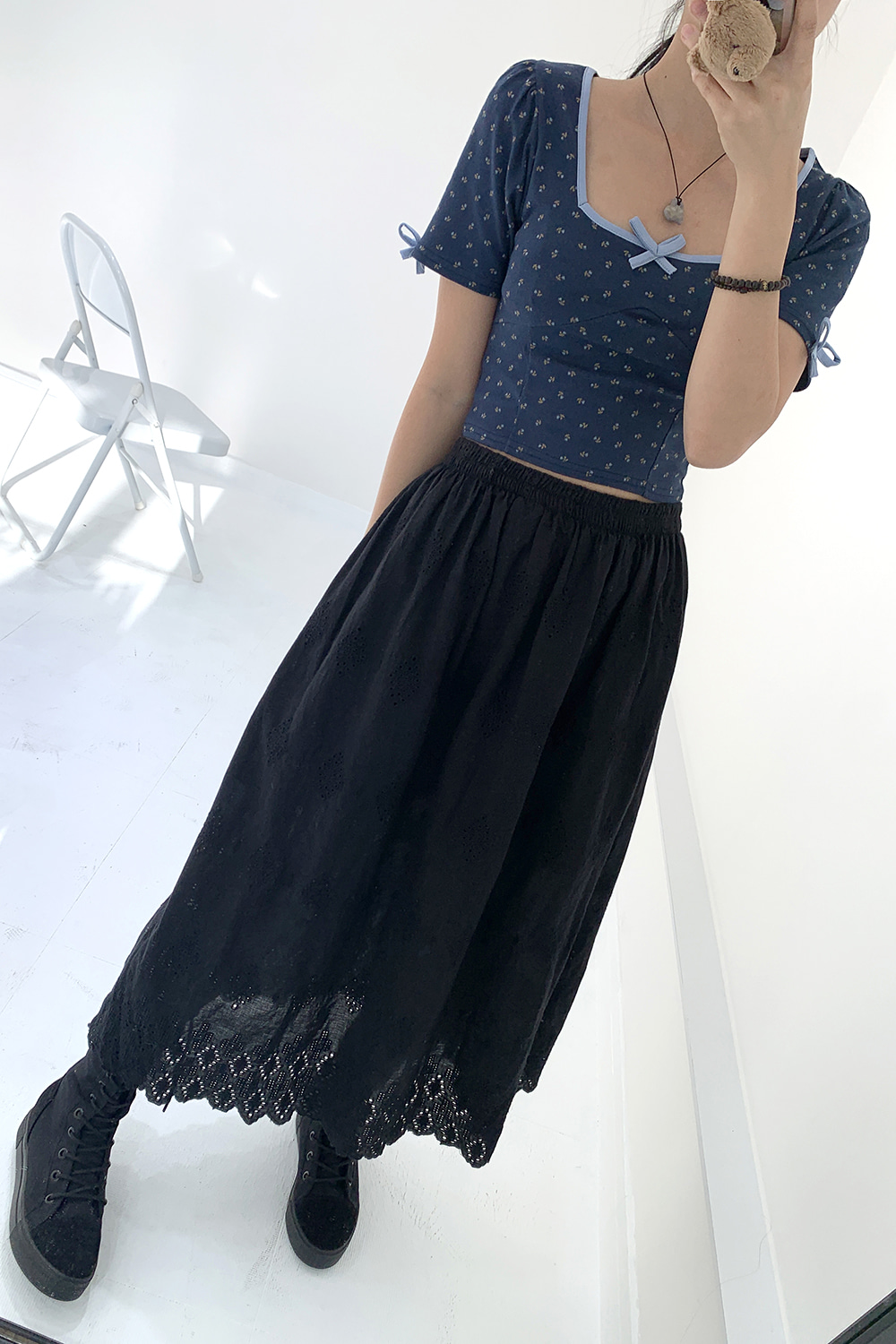 lala punching skirts (black)