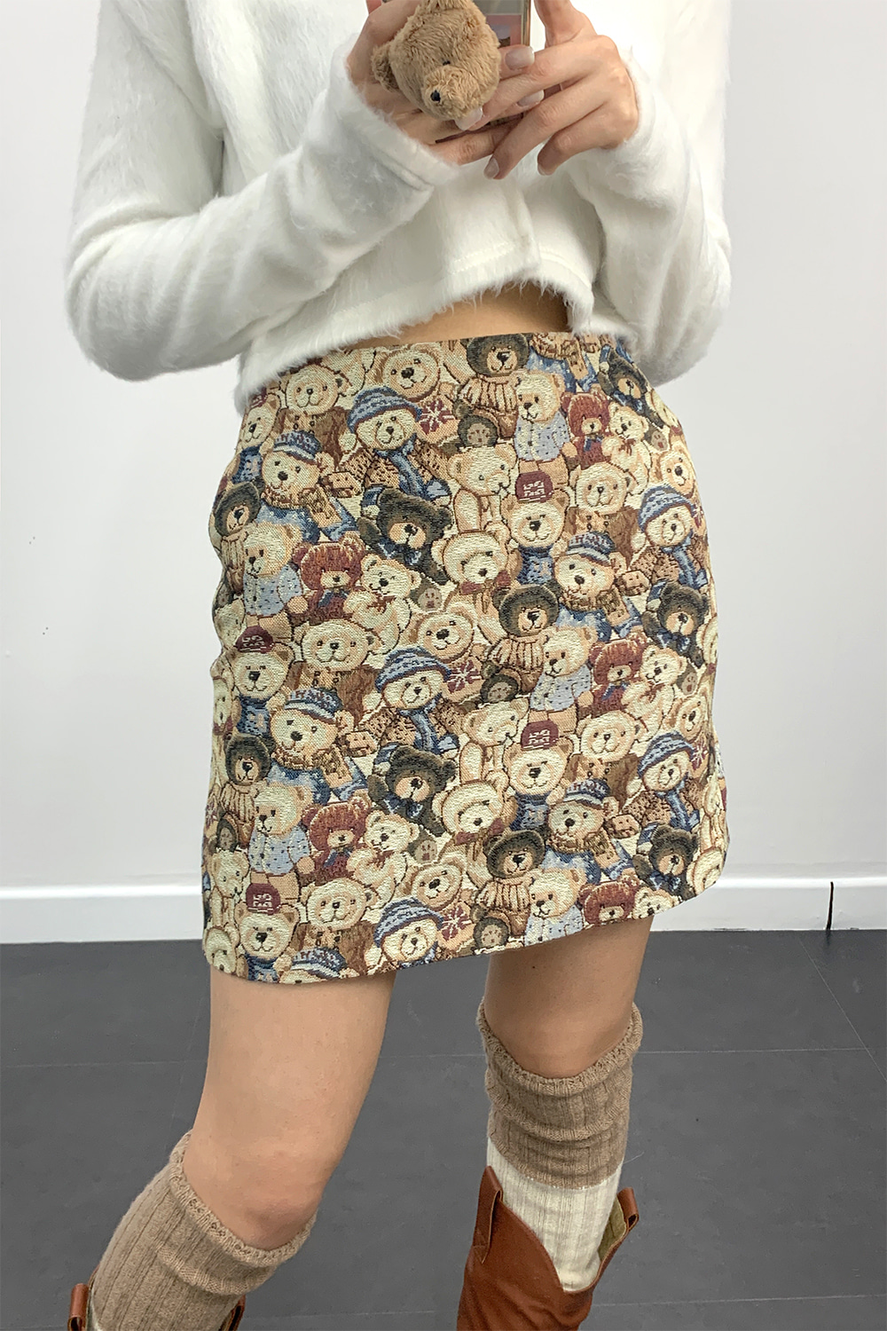 jacquard  mini skirts (bear)
