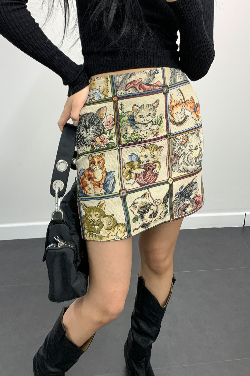 jacquard mini skirts (cat)