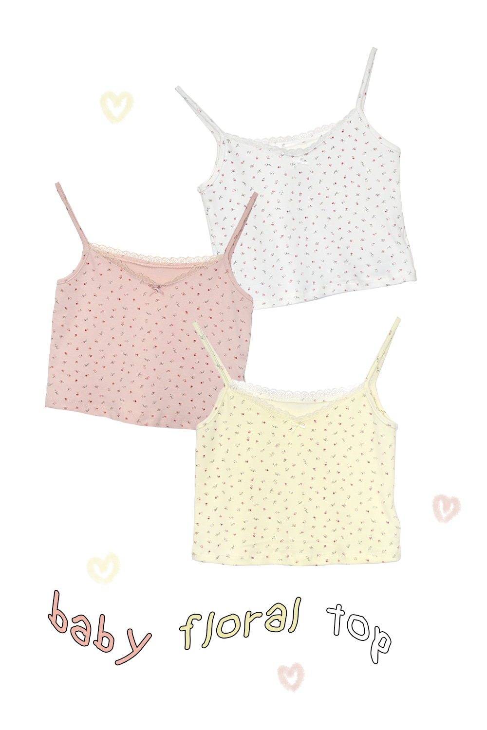 baby floral top (3colors)