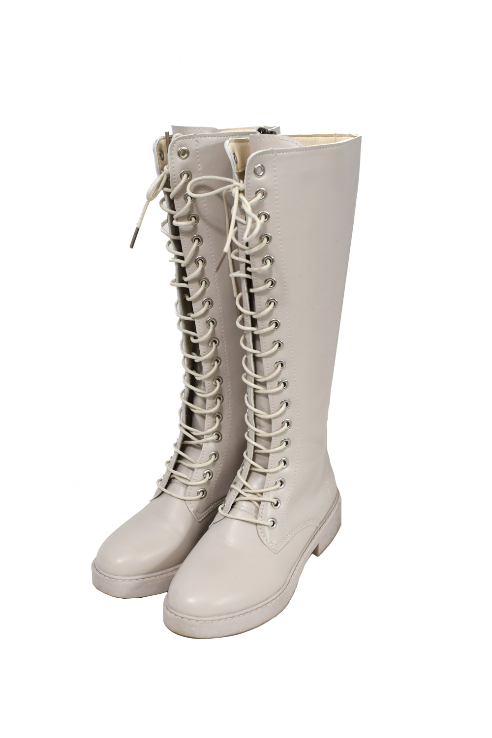 basic lace-up boots (2colors)