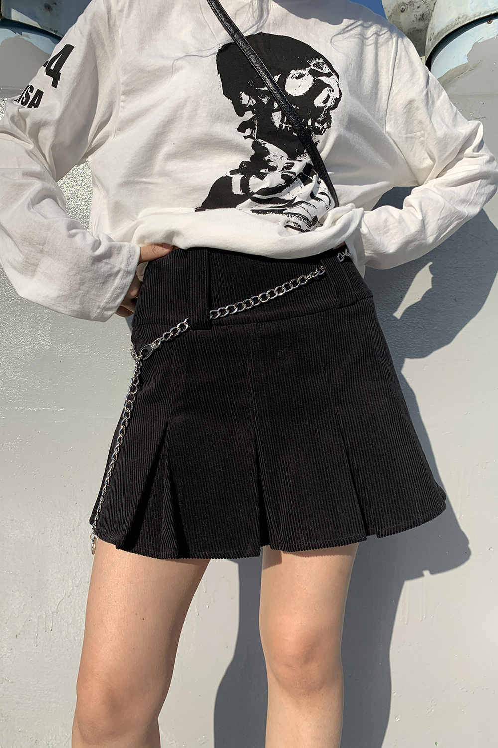 corduroy highteen mini skirts (2colors)