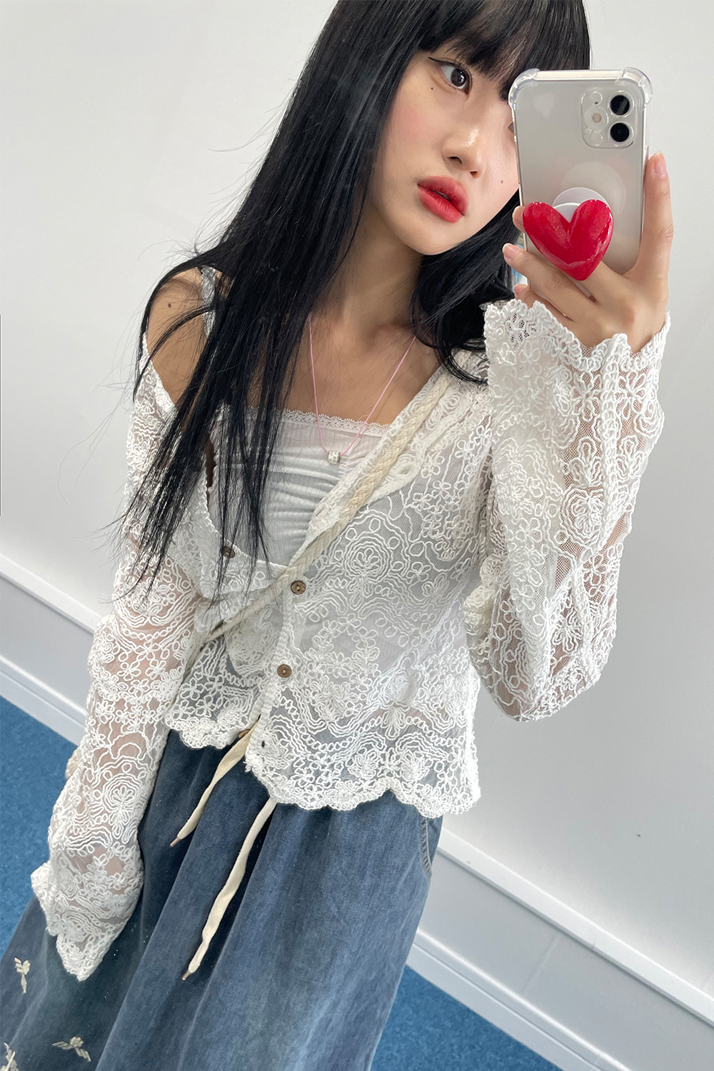 you lace cardigan (2colors)