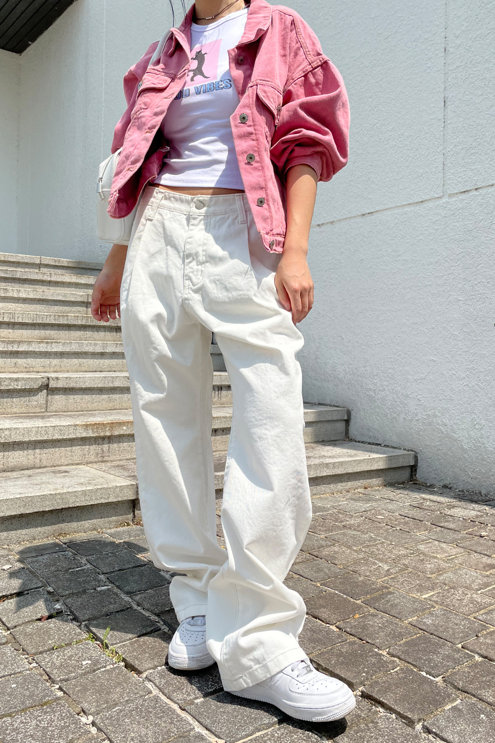plus white pintuck wide pants
