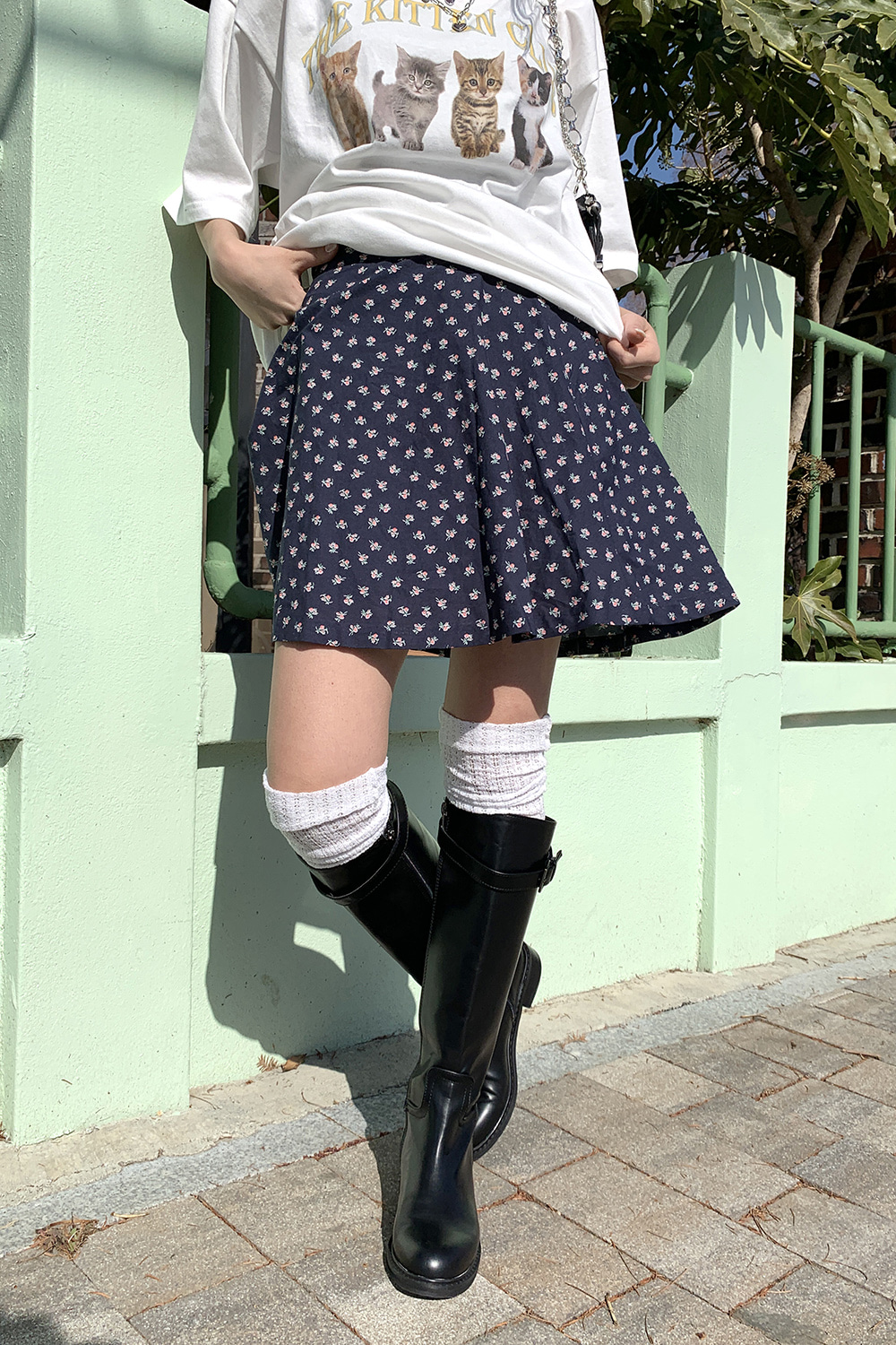 rosy pure flare skirts (2colors)