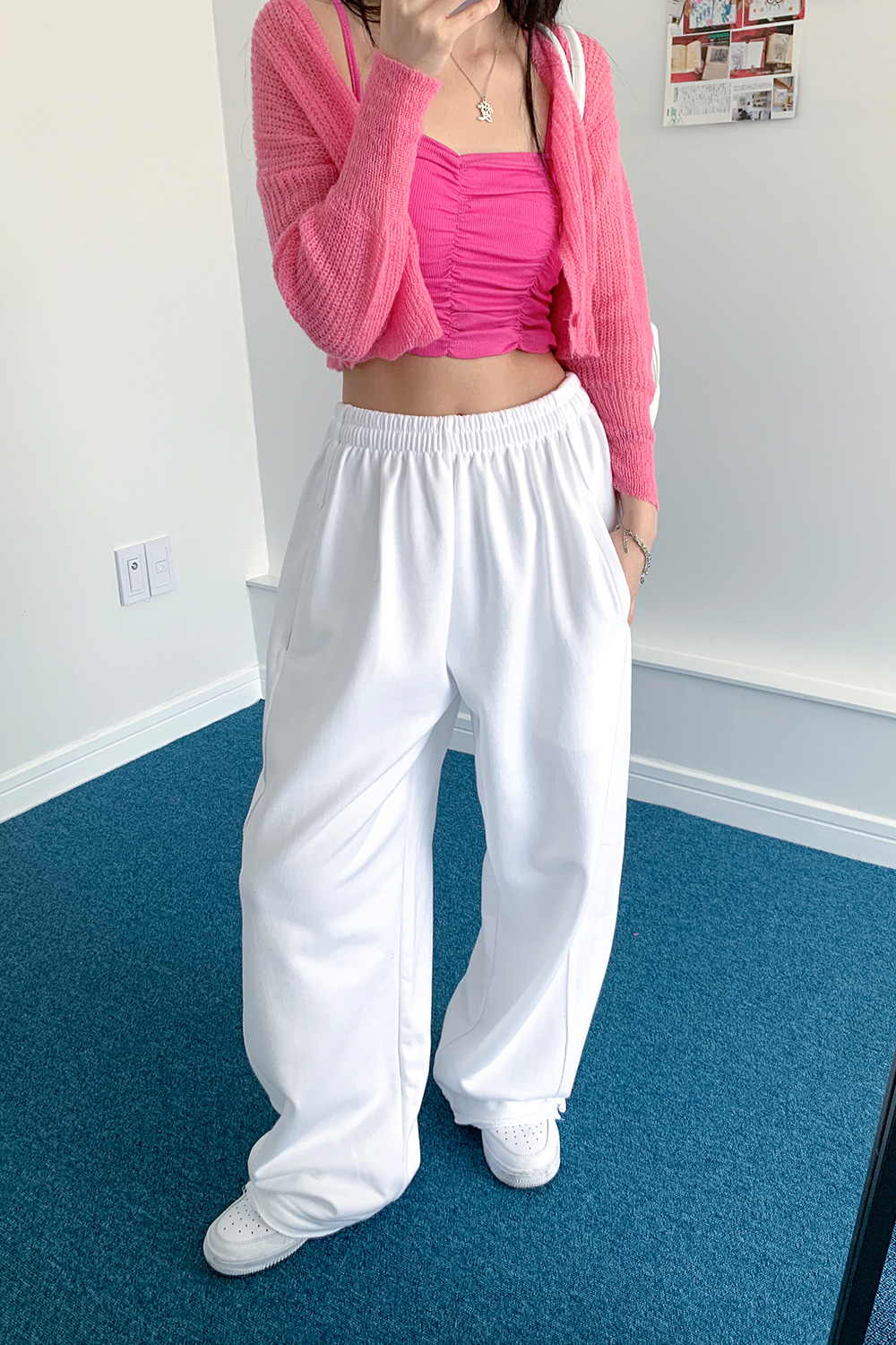 pull jogger wide pants (3colors)