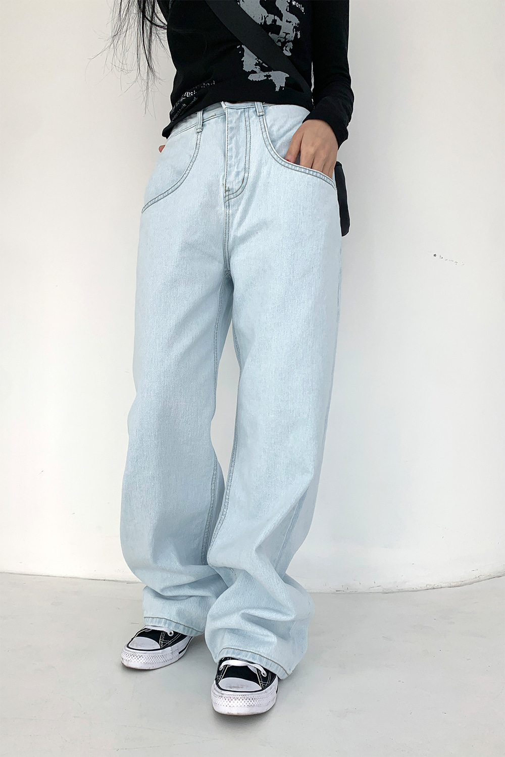 joy wide denim pants