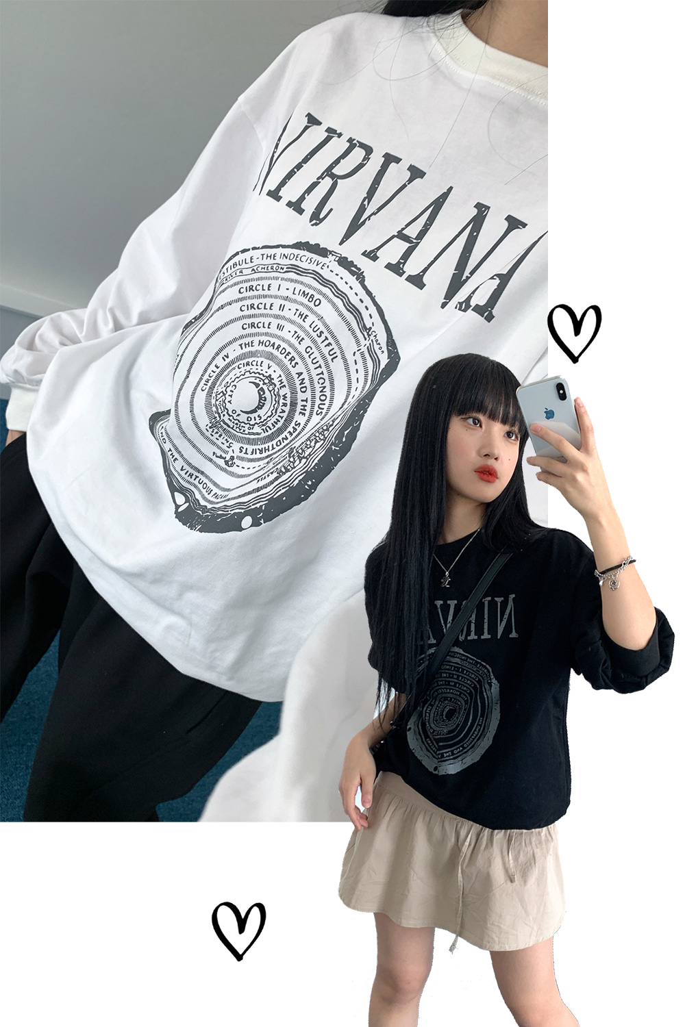 nirvana printing sweatshirts (2colors)