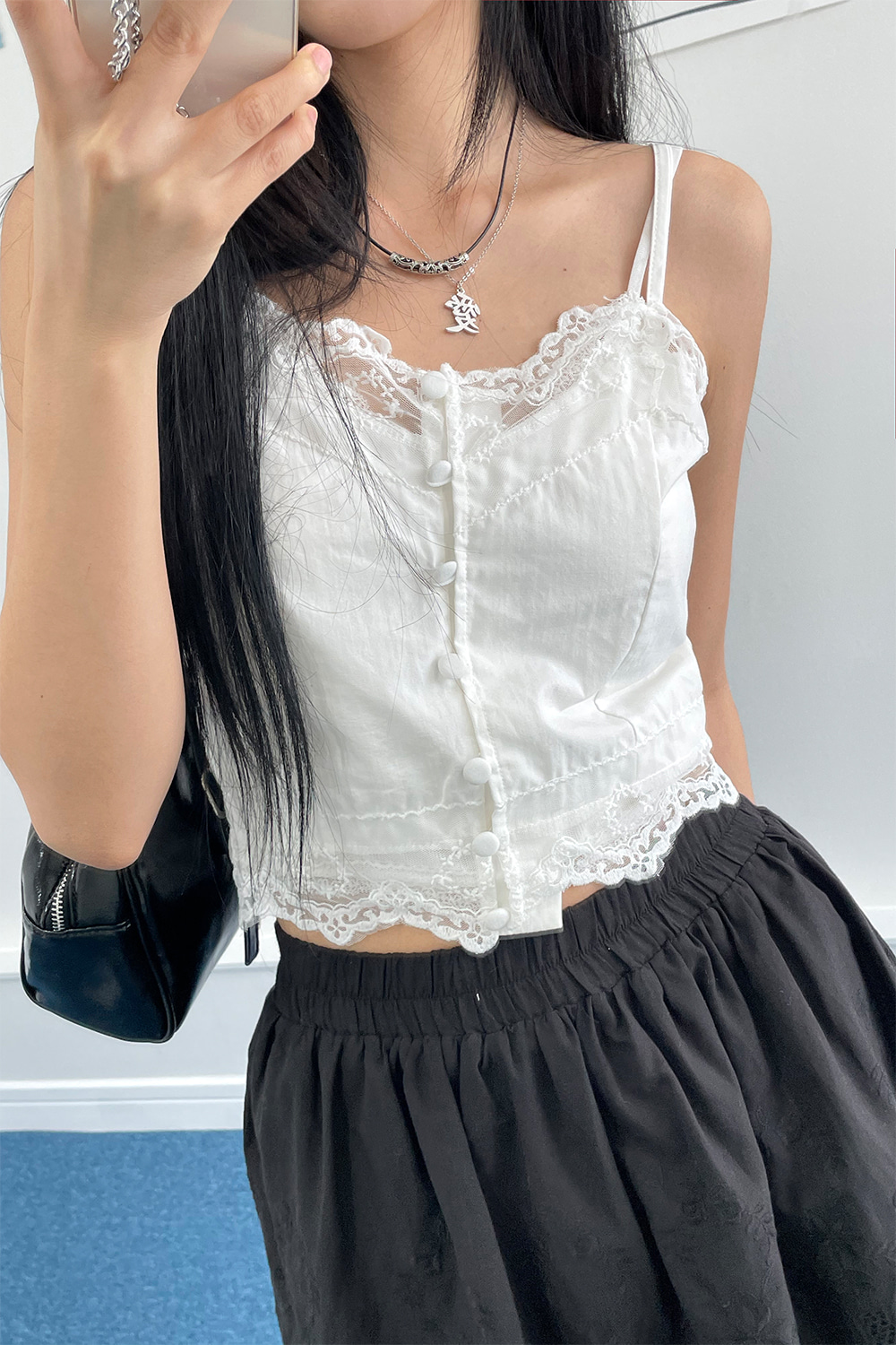 barbie lace top (2colors)